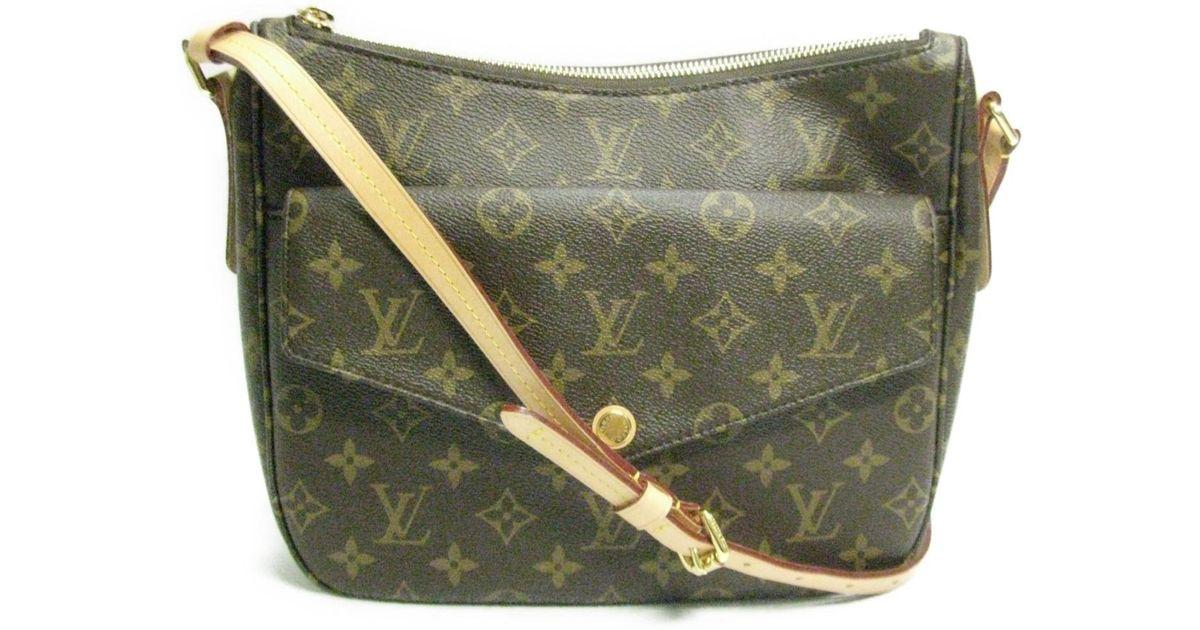 0c2796937f1b Lyst - Louis Vuitton Mabillon Shoulder Bag Monogram Canvas Monogram M41679  in Brown