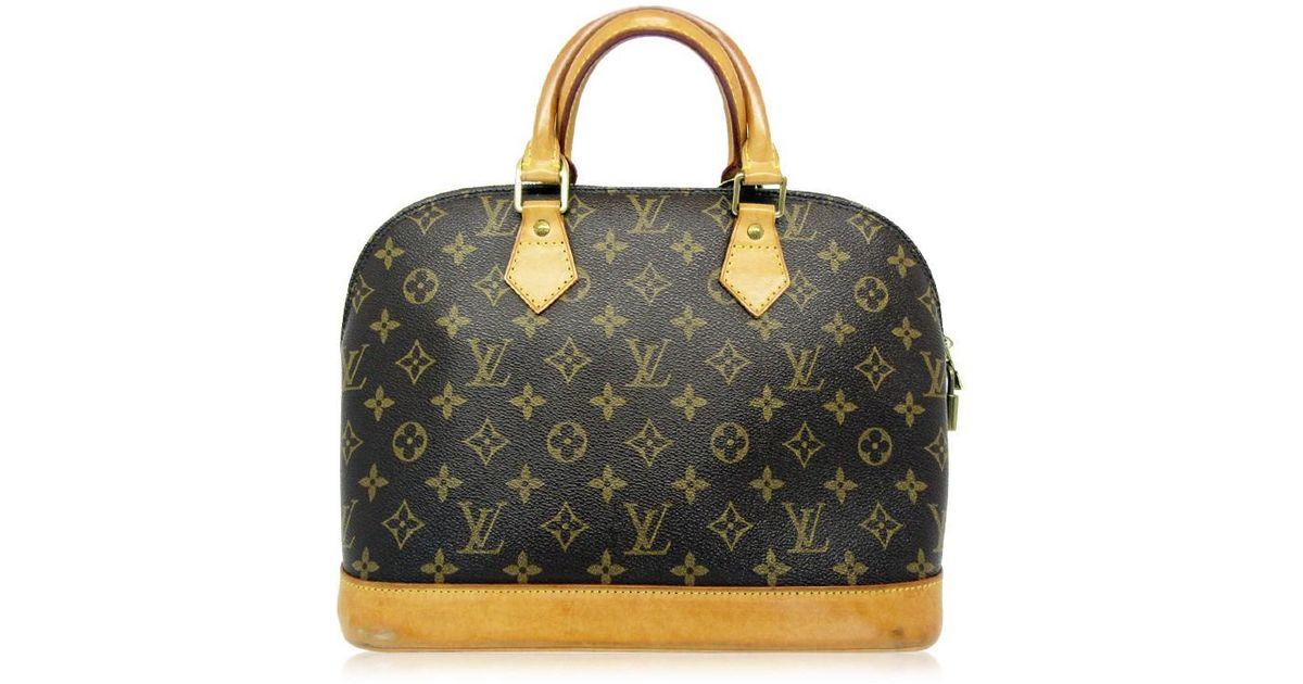 Lyst - Louis Vuitton Monogram Alma Hand Tote Bag M51130 in Brown 817dde56f424e