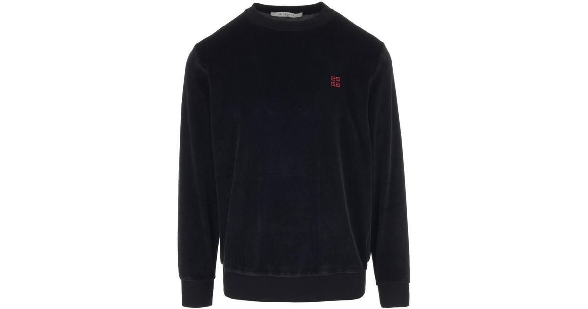 62d8800f Lyst - Givenchy Sweatshirts Fw18 Black Crewneck Chenille Sweater in Black  for Men
