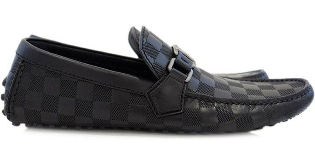 055c84eebb9 Lyst - Louis Vuitton Damier Infini Hockenheim Men s Shoes Loafer Driving  Shoes Size 7 in Black for Men