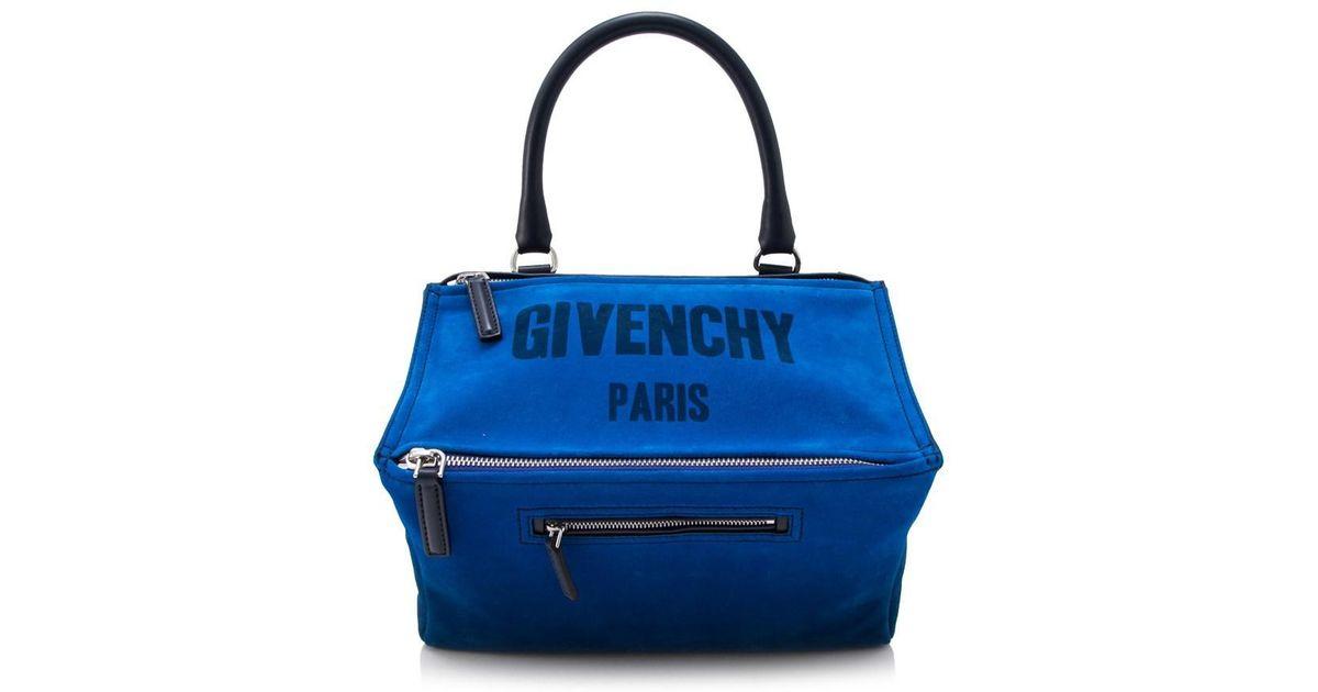 0ac54db0b338 Lyst - Givenchy Medium Pandora in Blue - Save 11.961722488038276%