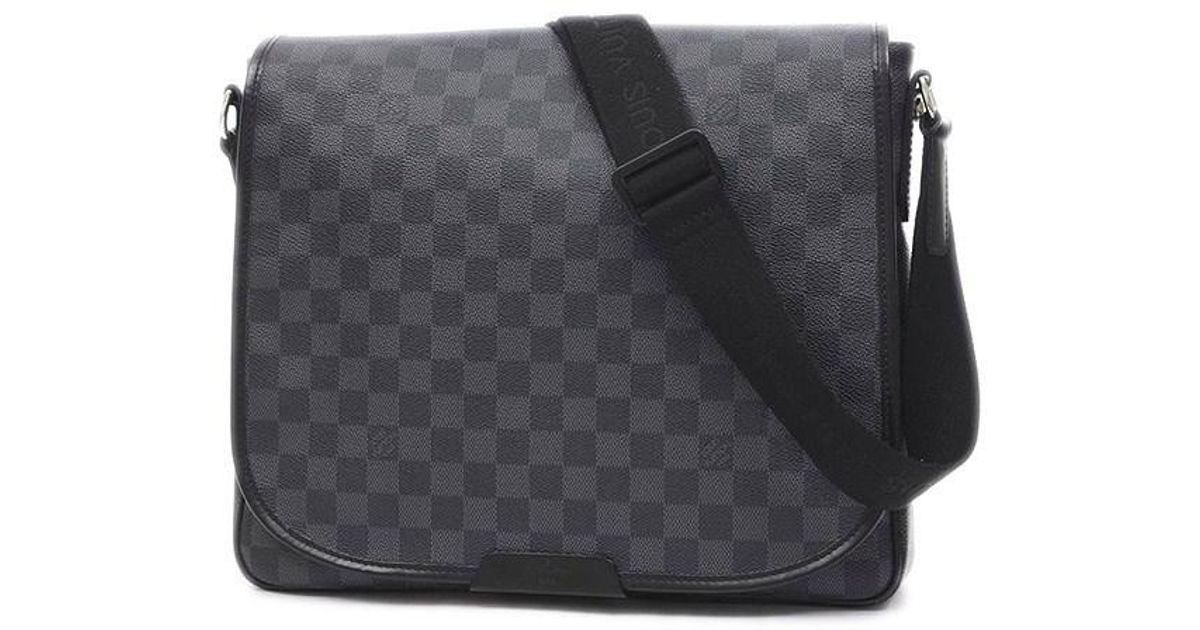 0cae2cae3493 Lyst - Louis Vuitton Damier Graphite Daniel Mm Shoulder Bag N 58029 in  Black for Men