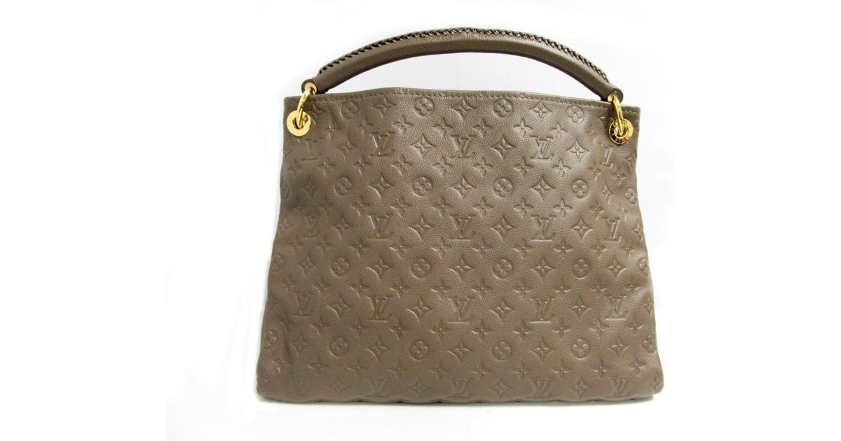b647841ea370 Lyst - Louis Vuitton Artsy Mm Shoulder Bag M94171 Monogram Empreinte Terre  Brown Used in Gray