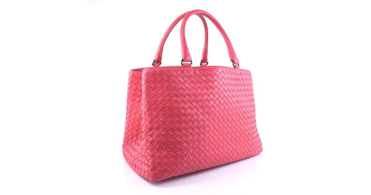 1eb4c4a155d5 Lyst - Bottega Veneta Bottegaveneta 223377 V0016 6 Calfskin Fuchsia Pink Tote  Bag Women in Pink