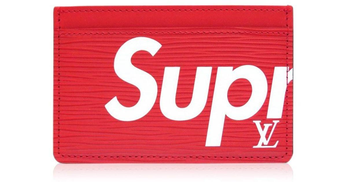 7ae4c7ea1dba Lyst - Louis Vuitton M67712 Supreme Card Case Porte Carte Simple (porte  Cult Simple)card Case Red white Epi Leather Lv 0362 in Red for Men