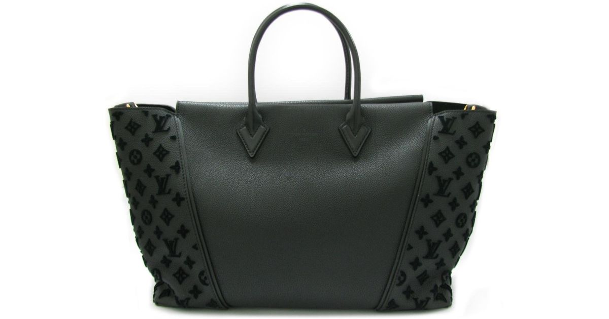Lyst Louis Vuitton Tote W Gm Bag M94480 Monogram Tufted Veau Cachemire Black In
