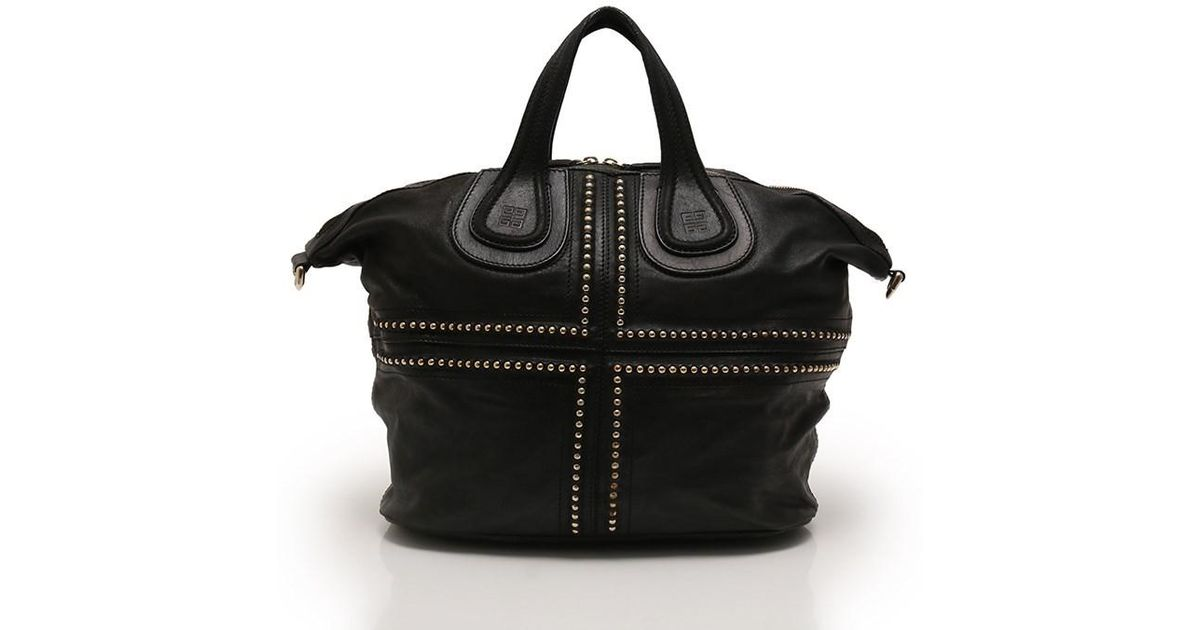 bcd5525d00 Lyst - Givenchy Nightingale Handbag 2way Studded Leather Black in Black