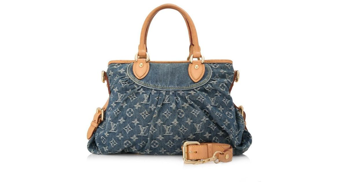 9731b6f6ffb Lyst - Louis Vuitton Pre-owned Monogram Denim Neo Cabby in Blue