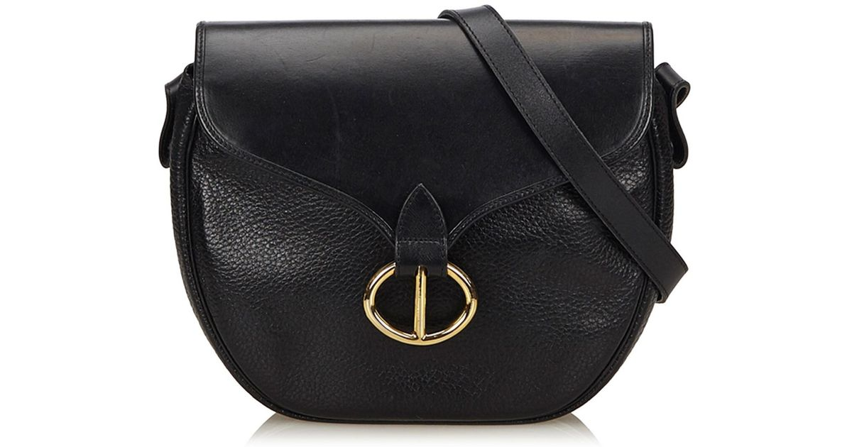 10e569bc8f Lyst - Dior Leather Crossbody Bag in Black