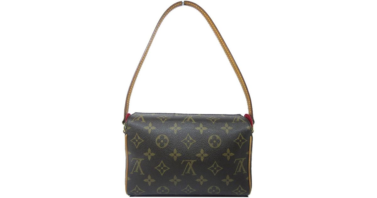 0a424aa31199 Lyst - Louis Vuitton Auth Monogram Recital Shoulder Handbag M51900 Used  Vintage in Brown for Men