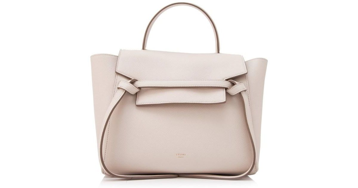 Lyst - Céline Céline Micro Belt Bag in Natural 3da7328ff39f0