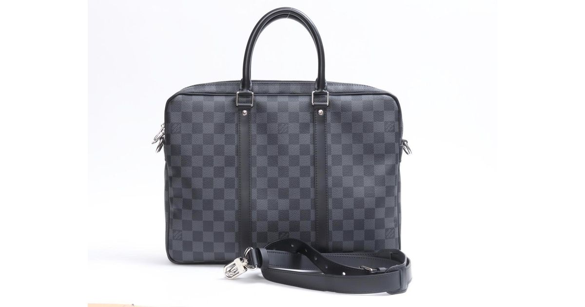 e3247242ea90 Lyst - Louis Vuitton Porto Document Vowayja Pm 2way Business Bag N41478  Damier Graphite in Gray for Men