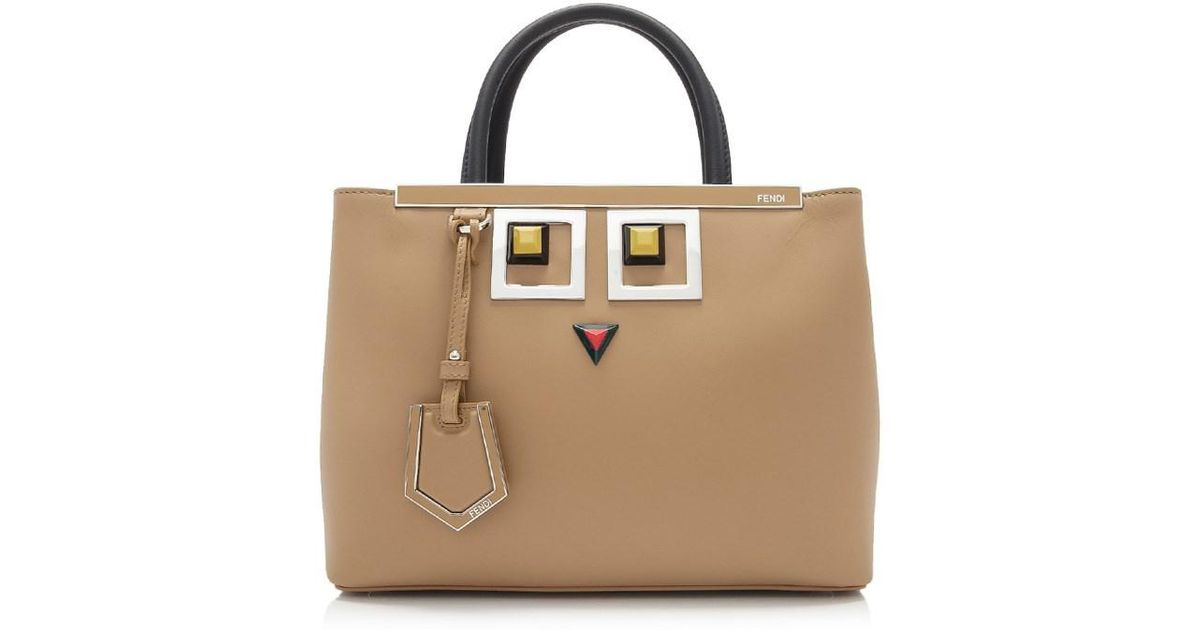 6975f49fea5c Lyst - Fendi Hypnoteyes Shopping 2jours Petite Tote in Brown