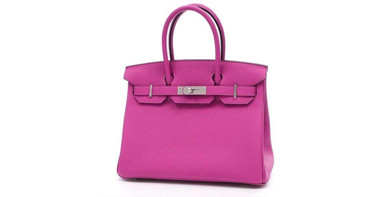 2c307f42c487 Lyst - Hermès Birkin 30 Togo Rose Purple Silverhardware A Marking in Purple