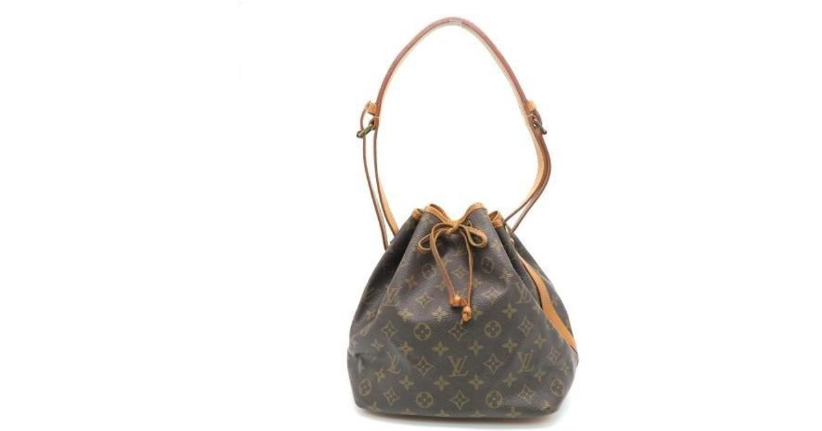 e247b5bc58f9 Lyst - Louis Vuitton Monogram Petit Noe Shoulder Bag Brown 6265 in Brown