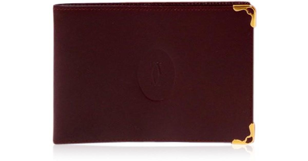 Lyst - Cartier Business Card Holder And Banknotes in Purple for Men