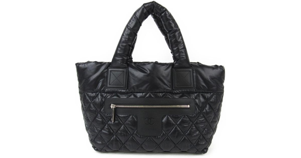 754f3bebd046 Chanel Coco ? Cocoon Tote Bag Pm Tote Bag Nylon Leather Black 19103135 in  Black - Lyst