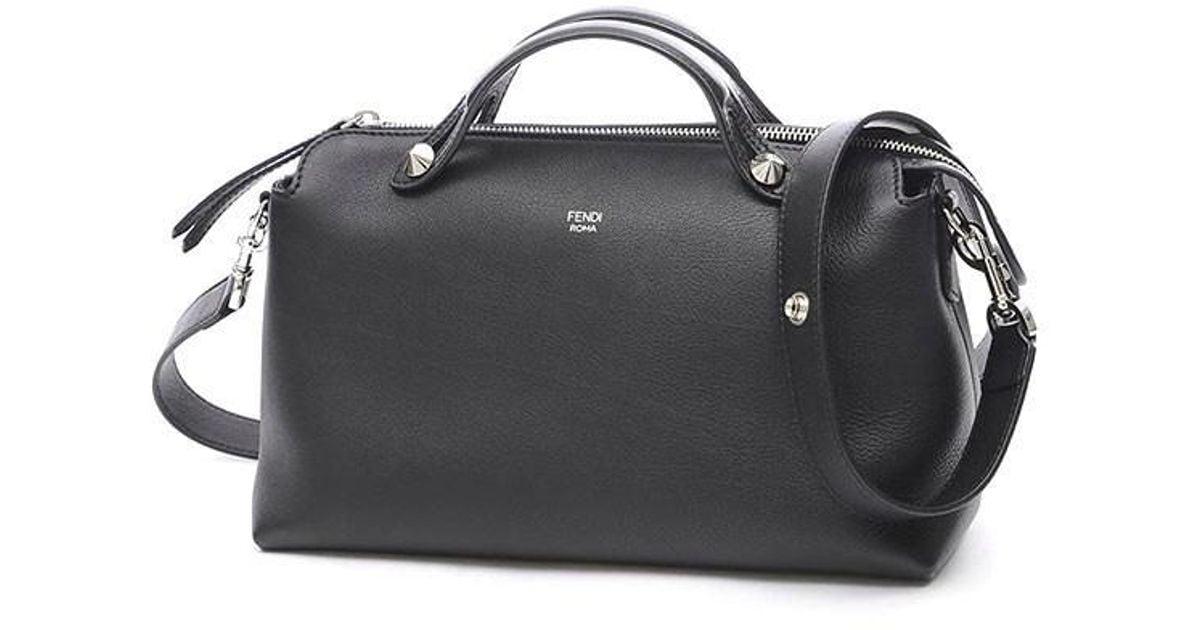 bca39fbb7241 Lyst - Fendi Visorway 2 Wayshoulder Bag Leather Black 8 Bl124 in Black