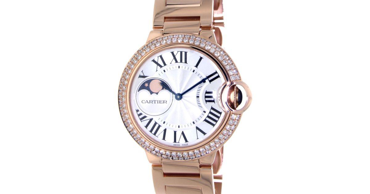 258863cdb222 Lyst - Cartier Ballon Bleu Wjbb0025 Rose Gold