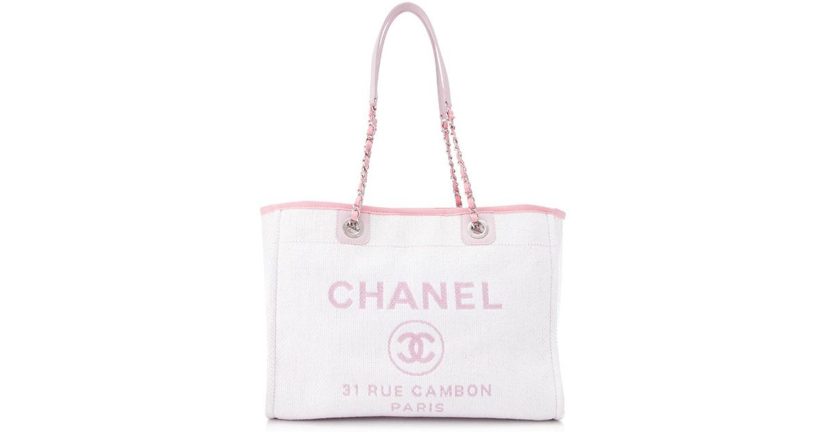 898252b26684 Chanel Pre-owned 31 Rue Cambon Tote Bag in Pink - Lyst