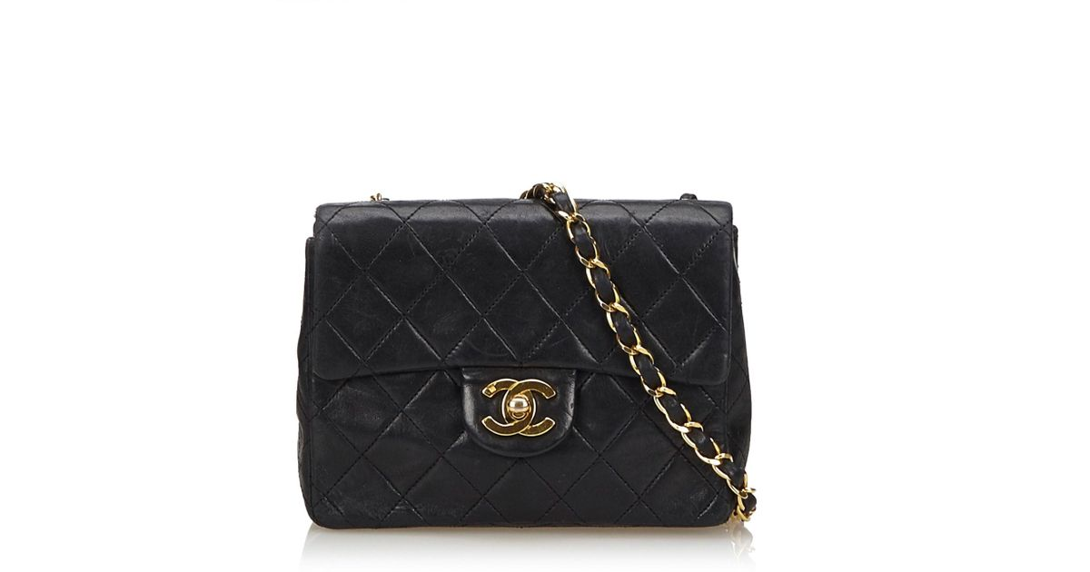 9964c80a830b5e Chanel Classic Mini Flap Crossbody Bag in Black - Lyst