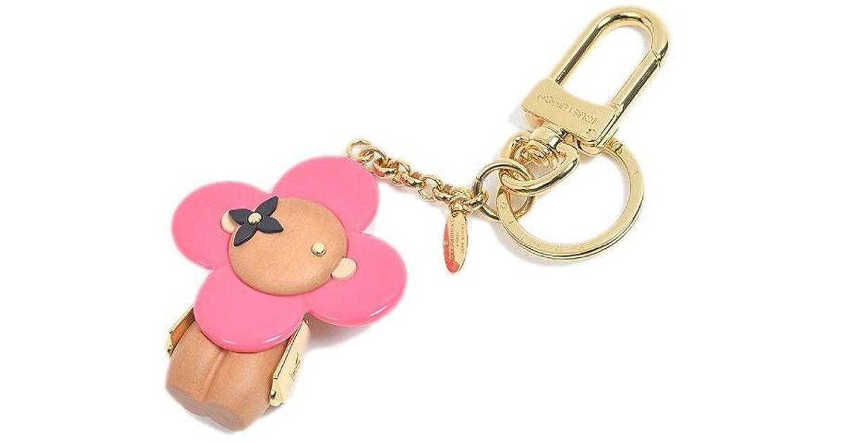 Lyst - Louis Vuitton Charm Key Holder Porto Cle Vivienne Wood   Calfskin  M67298 in Pink e9af28f39