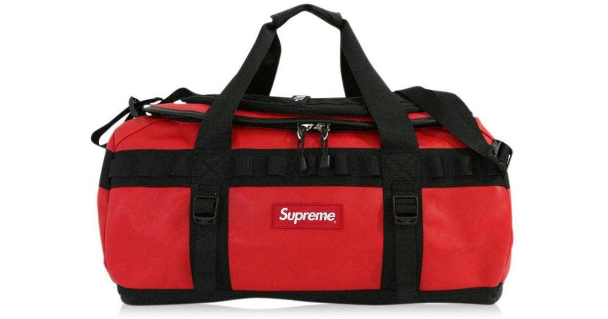 df8bfedb7f Lyst - Supreme The North Face   The North Face · Leather Base Camp Duffle  Duffle Bag   Nm 81789 I   Red X Black   in Red for Men