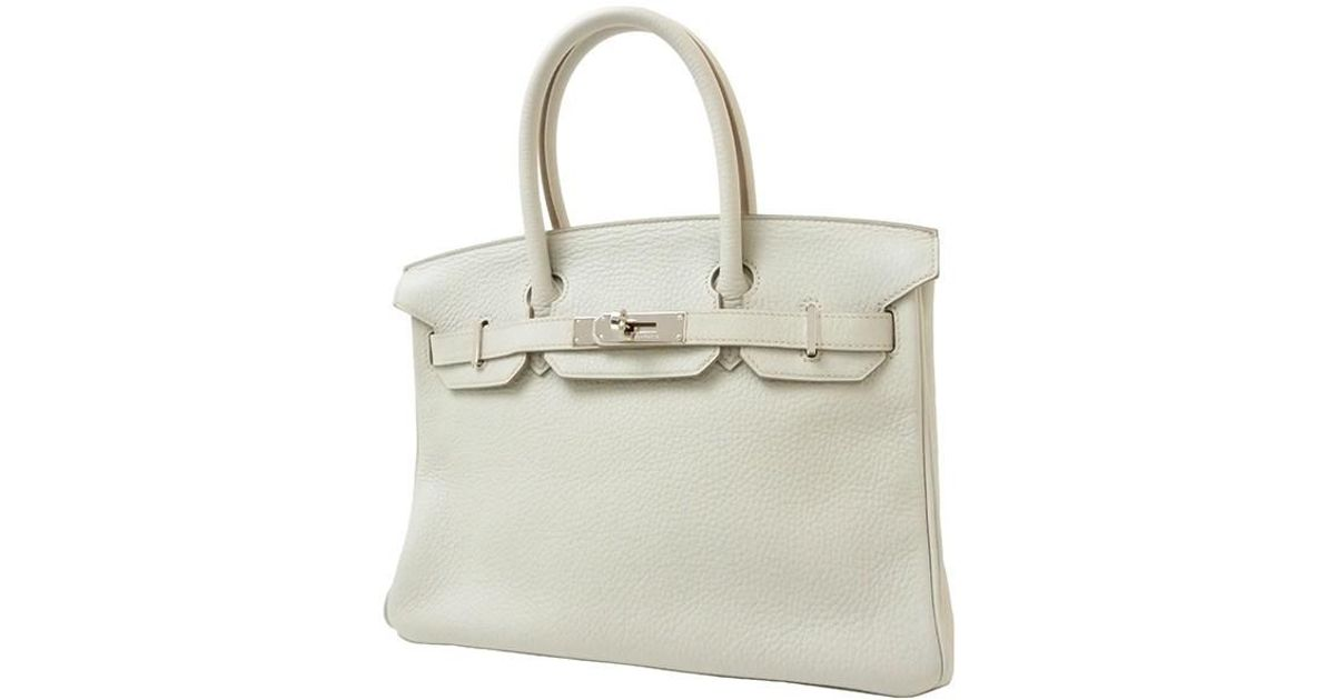 5f758bf46f Lyst - Hermès Birkin 30 Togo Leather Pearl Grey Shw Handbag in Gray