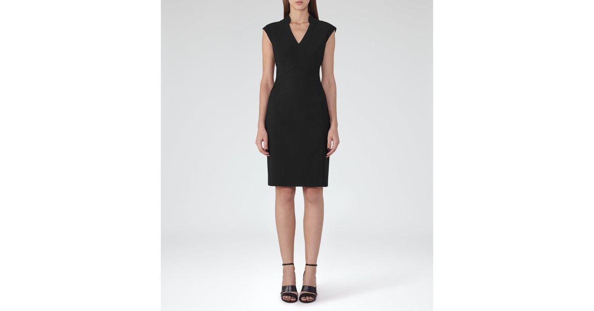 Lyst Reiss Elia Dress In Black