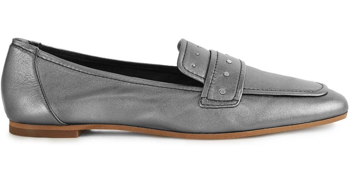 b809067f24c Reiss Elba Metallic - Metallic Leather Loafers - Save 11% - Lyst