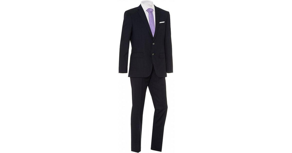 b42ccc2e Lyst - BOSS Hutson5/gander3 Suit, Navy Blue Slim Fit Suit in Blue for Men