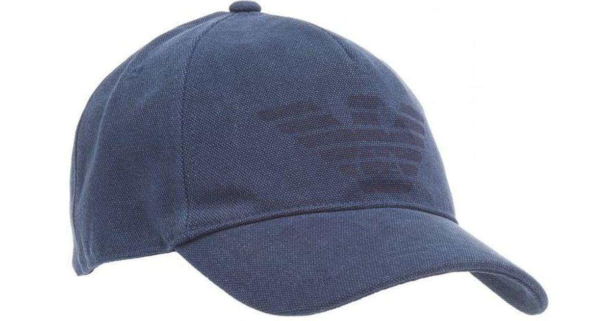 c8b4a4c30c2 Emporio Armani Large Eagle Baseball Cap