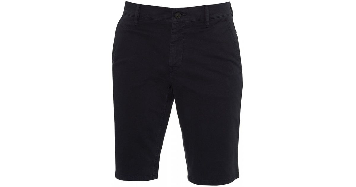 6bb81d37a Lyst - Boss Schino Slim Navy Blue Chino Shorts in Blue for Men