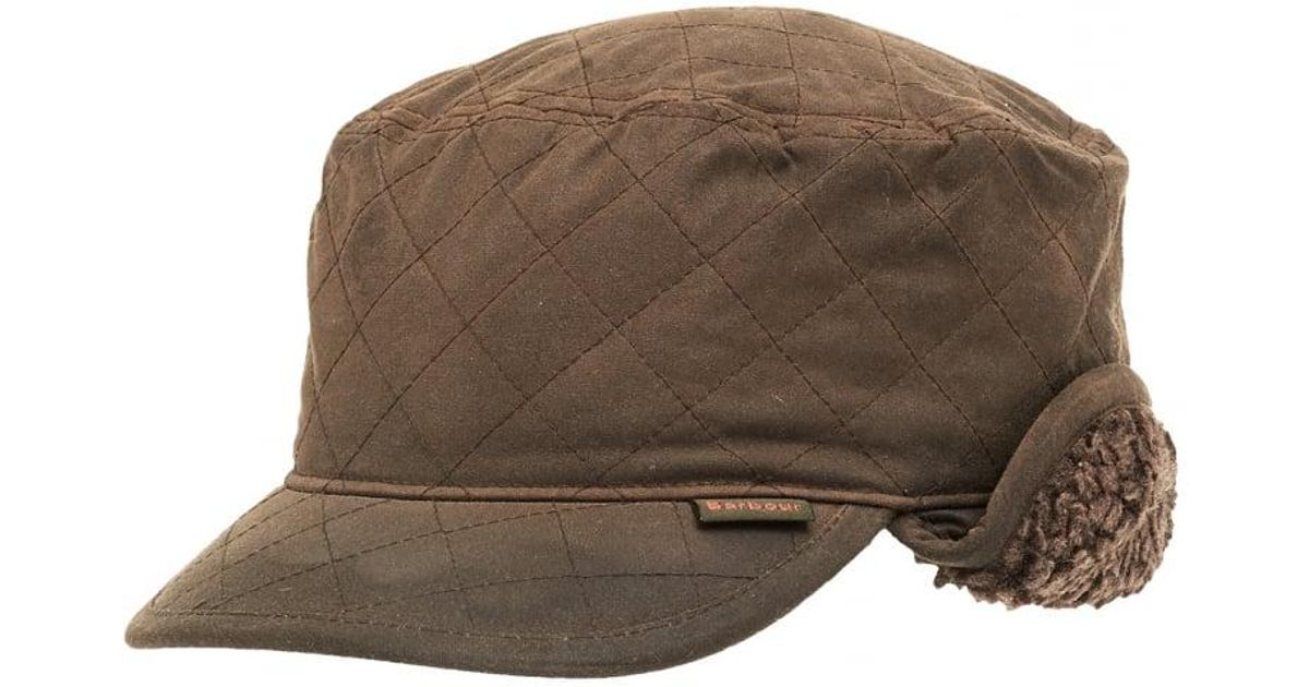 df2d4643a Lyst - Barbour Lifestyle Stanhope Wax Trapper Olive Green Hat in Green for  Men