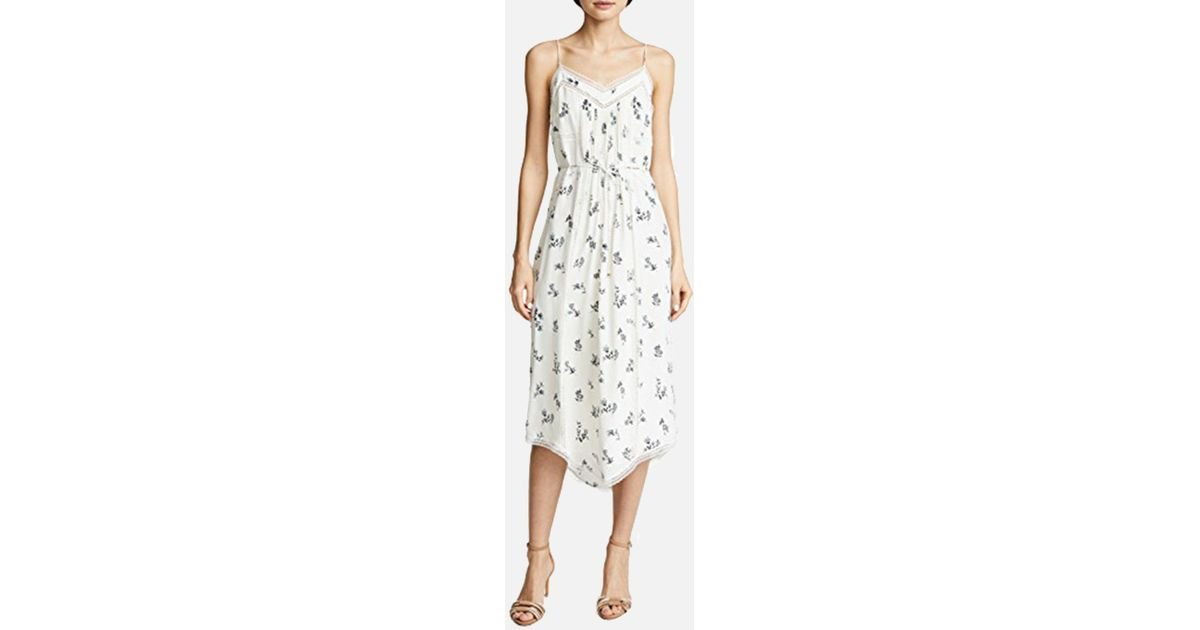 aac37dde584e Zimmermann Pintuck Slip Dress In Pearl Ditsy Floral - Lyst