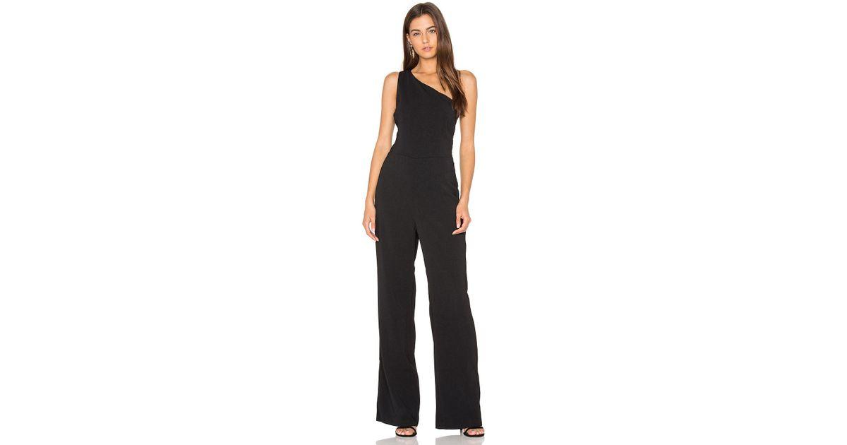 f264a870a636 Lyst - Greylin Laurel One Shoulder Jumpsuit in Black