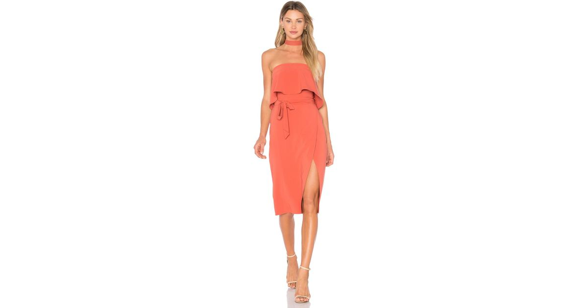 e954109c34c Lovers + Friends X Revolve Max Midi Dress in Orange - Lyst