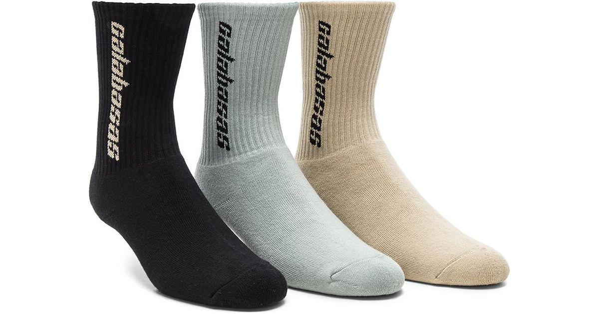 950b8e928 Lyst - Yeezy Season 6 Calabasas 3 Pack Socks