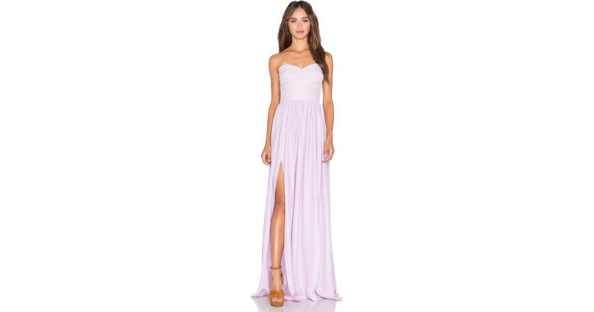 a5831e484cdb Amanda Uprichard Gisele Maxi Dress in Pink - Lyst