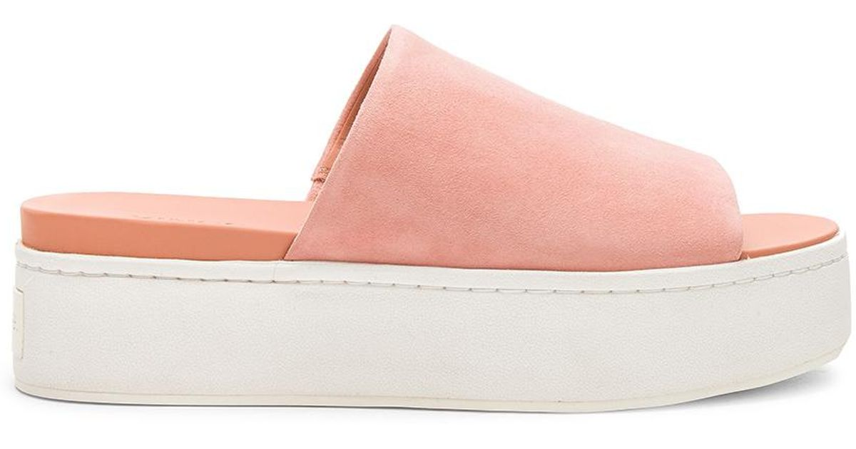 ff430cd0830 Lyst - Vince Woman Suede Slides Peach in Pink - Save 53%