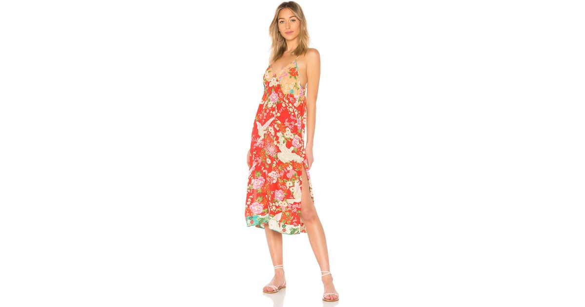e68cc95212d7 Spell & The Gypsy Collective X Revolve Delilah Patchwork Slip Dress in Red  - Lyst