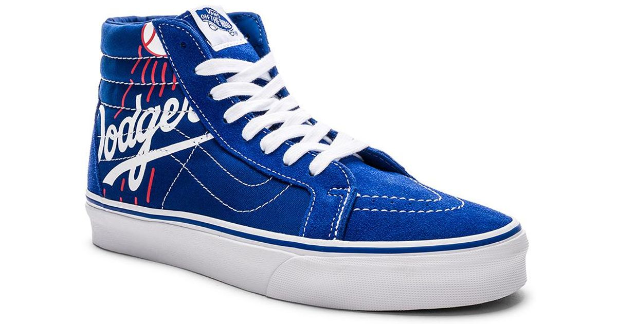 7989f4b9bb Vans Sk8-hi Reissue Dodgers in Blue for Men - Lyst