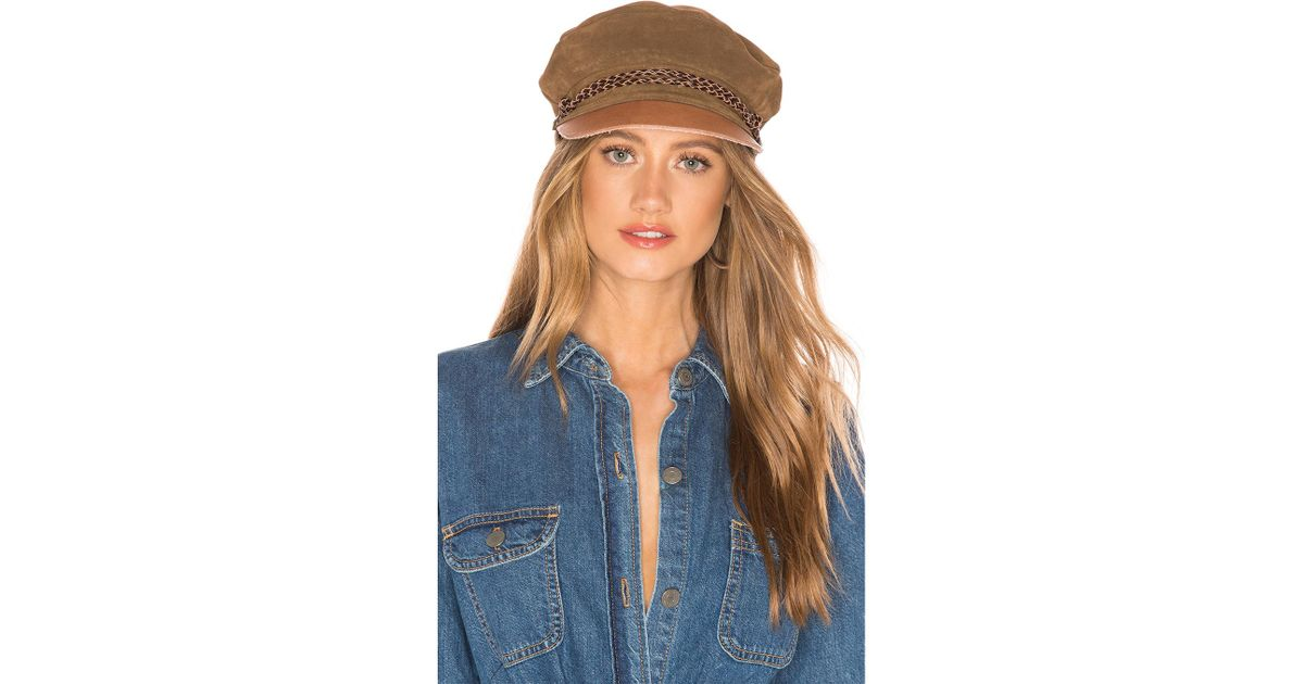 0ec5c7d734f63 Lyst - Brixton Kayla Cap In Taupe in Brown