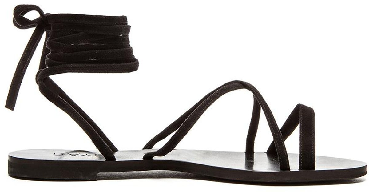 656e7b49d078 Lyst - RAYE Sadie Suede Gladiator Sandals in Black
