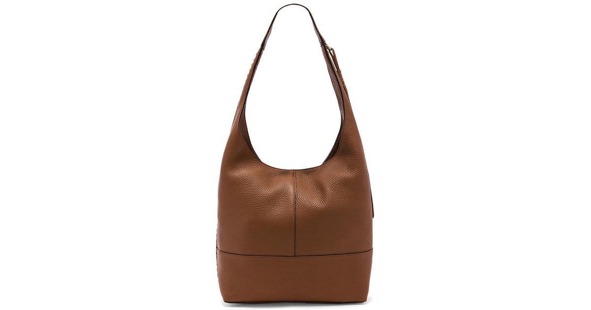 56e8b09f21 Lyst - Rebecca Minkoff Unlined Slouchy Hobo With Whipstitch in Brown