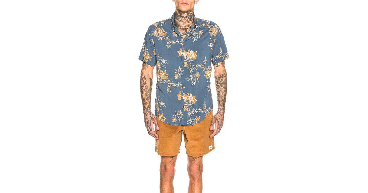 320c0077053802 Rhythm Vintage Aloha Shirt in Blue for Men - Save 21% - Lyst