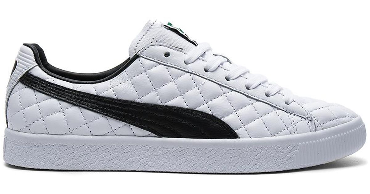 802aed38e66 Lyst - Puma Select Clyde Dressed Part Deux Fm In Puma White   Puma Black in  White for Men
