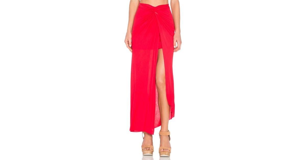 Lyst - Young Fabulous   Broke Kulani Maxi Skirt in Red 754ef5c92