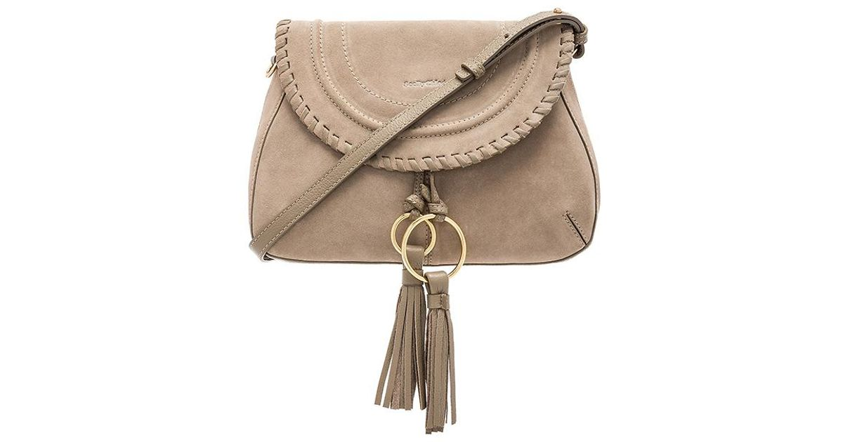 73c96a5d1f7e Lyst - See By Chloé Polly Leather   Suede Shoulder Bag in Gray