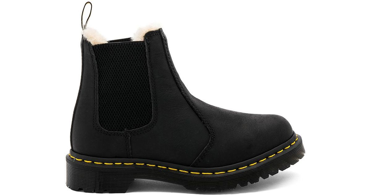 dr martens leonore boot in black lyst. Black Bedroom Furniture Sets. Home Design Ideas